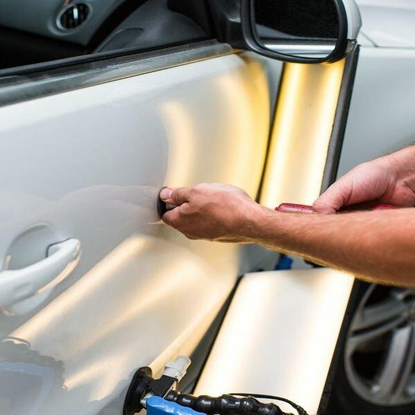 Ремонт мелких вмятин на автомобиле без покраски